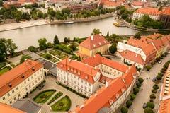 Городок Wroclaw старый Стоковые Изображения