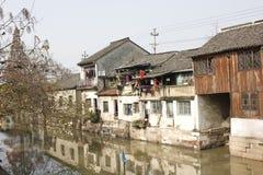 Городок Xincheng старый в дне зимы солнечном Стоковые Изображения