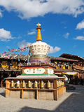 городок yunnan провинции zhongdian Стоковые Фото