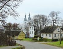 Городок Zemaiciu Kalvarija, Литва стоковые изображения