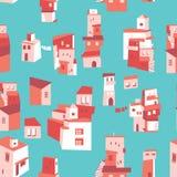 Город дома установленный азиатский иллюстрация штока