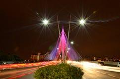 город освещает место ночи Стоковая Фотография