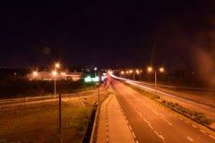 город освещает место ночи Стоковая Фотография RF