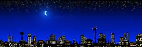 город освещает место ночи Стоковые Фотографии RF