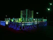 город освещает место ночи Стоковое фото RF