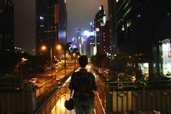 город освещает место ночи Стоковые Изображения
