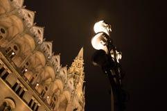 город освещает место ночи Стоковое Изображение