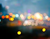 Город освещает на зоре Стоковая Фотография RF