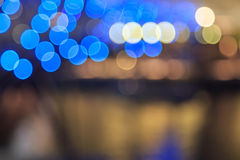 Город освещает предпосылку запачканную bokeh Стоковое фото RF