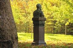город осени расквартировывает желтый цвет валов листьев Стоковые Изображения RF