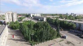 Город от высоты Стрельба с витать видеоматериал