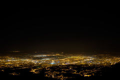 Город от холма Стоковое Фото