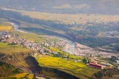Город от Sarangkhot стоковое изображение rf