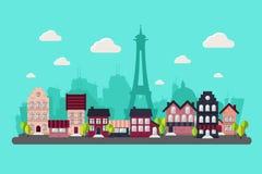 Город Парижа Стоковое Изображение RF