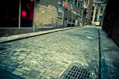 Город переулка булыжника Стоковые Фотографии RF