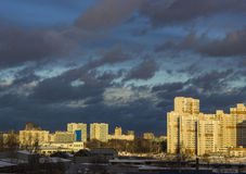 Город после плохой погоды Стоковая Фотография RF
