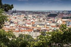 Город Праги взгляд городка республики cesky чехословакского krumlov средневековый старый стоковые изображения