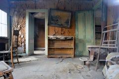 Город-привидение золотой лихорадки - Bodie Калифорния Стоковая Фотография
