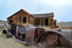 Город-привидение золотой лихорадки - Bodie Калифорния Стоковая Фотография RF