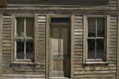 Город-привидение покинутое домой Стоковые Изображения