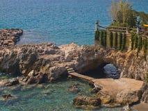 Город пляжа Nikolaos ажио Стоковое фото RF