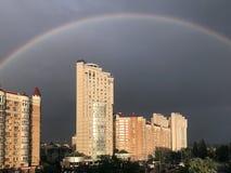 Город радуги стоковые фото
