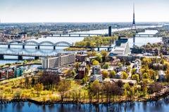 Город Риги. Латвия Стоковое Изображение RF