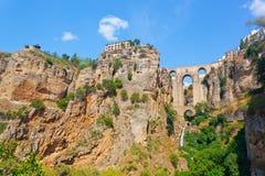 Город Ронда, Испания Стоковые Изображения RF