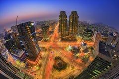 Город Сеула и городской горизонт, Сеул, Южная Корея Стоковые Фотографии RF