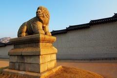Город Сеула - квадрат Gwanghwamun - дворец Gyeongbok - Южная Корея Стоковые Фото