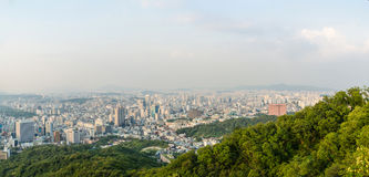 Город Сеула, Южная Корея Стоковые Фотографии RF