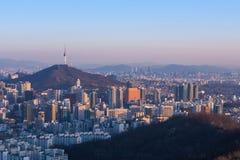 Город Сеула, Южная Корея Стоковая Фотография