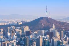 Город Сеула, Южная Корея Стоковые Фото