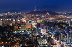 Город Сеула, Южная Корея Стоковое Изображение RF