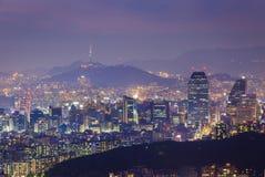 Город Сеула, Южная Корея Стоковые Изображения RF