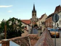Город Сибиу в Трансильвании Стоковая Фотография