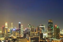 Город Сингапура вида с воздуха Стоковая Фотография RF