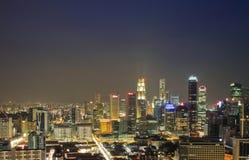 Город Сингапура вида с воздуха Стоковое Изображение
