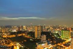 Город Сингапура вида с воздуха Стоковое Изображение RF