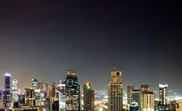 Город Сингапура вида с воздуха Стоковые Изображения RF