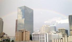 Городская Атланта с радугой Стоковая Фотография