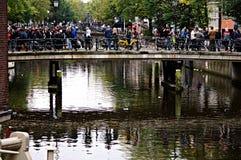 Городская жизнь в Амстердаме 01 Стоковая Фотография RF