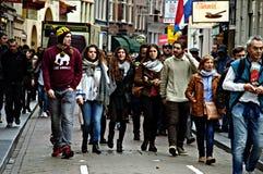 Городская жизнь в Амстердаме 02 Стоковые Изображения RF