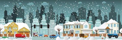 Городская жизнь (зима) иллюстрация вектора