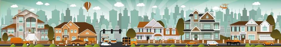 Городская жизнь иллюстрация штока