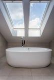 Городская квартира - ванная комната чердака Стоковые Фотографии RF