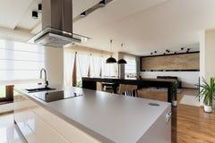 Городская квартира - взгляд на живущей комнате Стоковые Фотографии RF