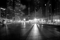 Городская конструкция и дорога, Шанхай, Китай стоковое изображение