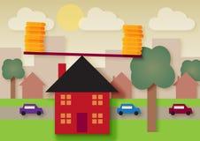 Баланс дома Бесплатная Иллюстрация