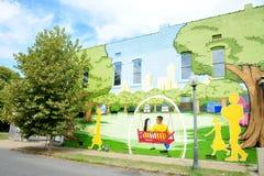 Городская настенная роспись подъема в Мемфисе, Теннесси Стоковые Фото